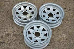 """Holden 13"""" Galvanized Trailer Wheels"""